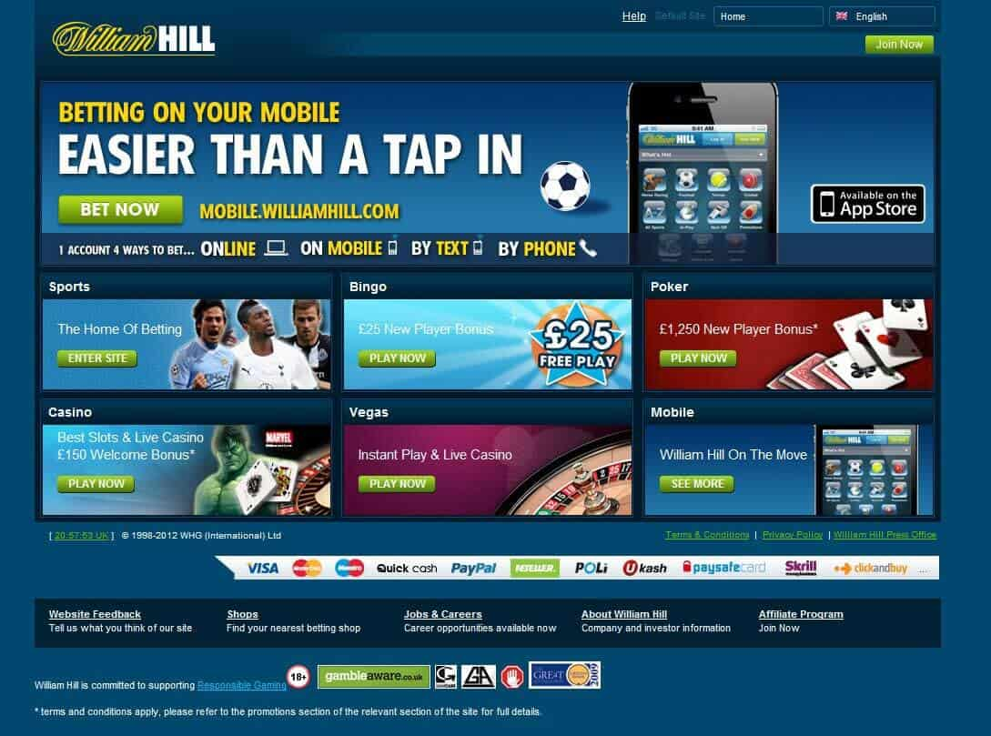 William Hill Screenshot