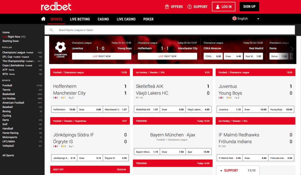 Redbet Screenshot