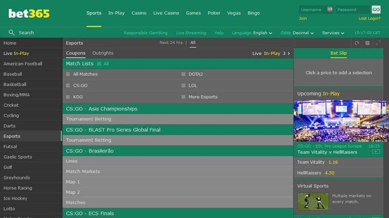 bet365 (2020) Screenshot
